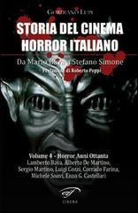 Storia del cinema horror italiano vol. 4 copertina del libro