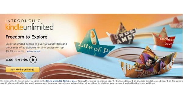 Amazon lancia Kindle Unlimited: arriva lo Spotify dei libri?